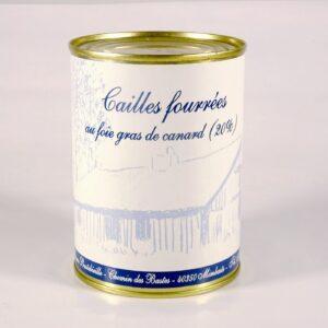 Cailles fourrées au foie gras
