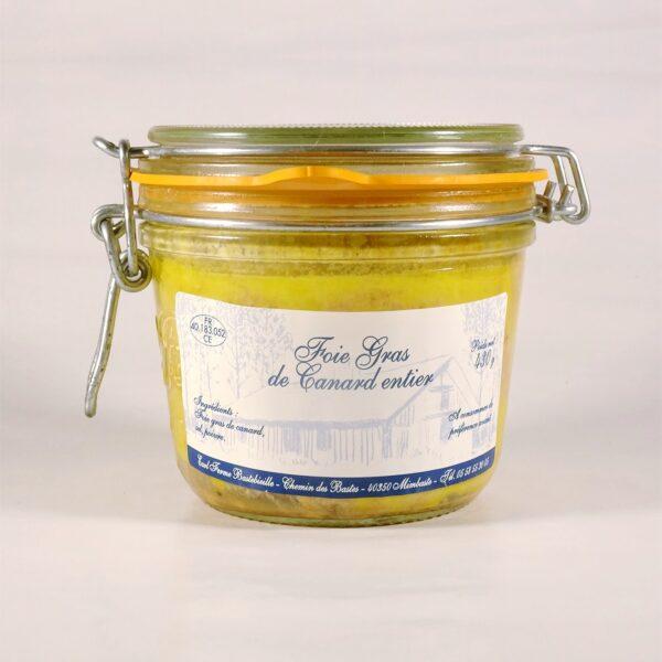 Foie gras de canard entier en conserve 430g