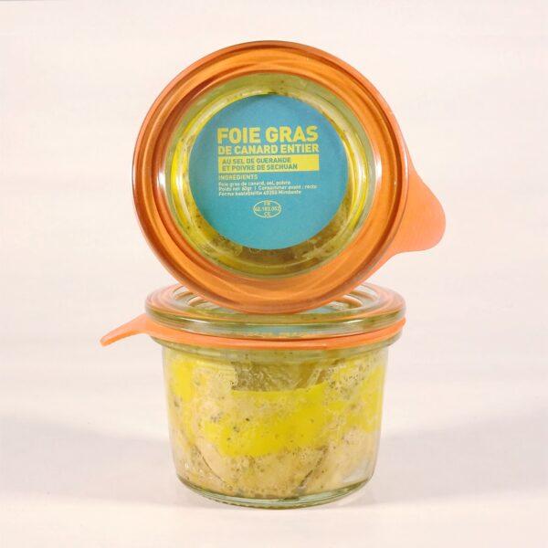 Foie gras de canard au sel de guerande et poivre de sichuan