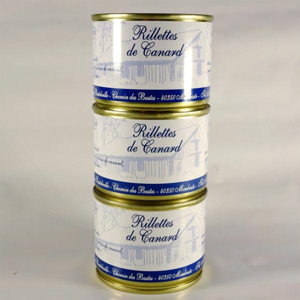 Rillettes et pate au foie gras de canard