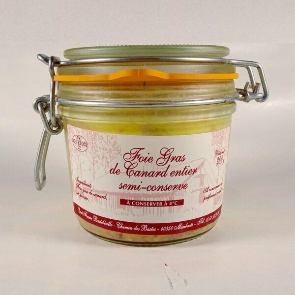 foie gras de canard entier en semi conserve 300g